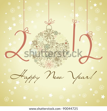 2012 Happy New Year background. - stock vector