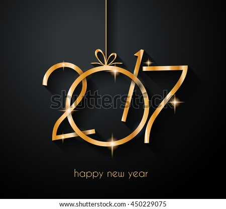 2017 Happy New Year Background for your Flyers and Greetings Card. Ideal to use for parties invitation, Dinner invitation, Christmas Meeting events and so on. - stock vector