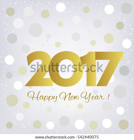 2017 Happy New Year background. Pattern element for cover, print, web, wrapping