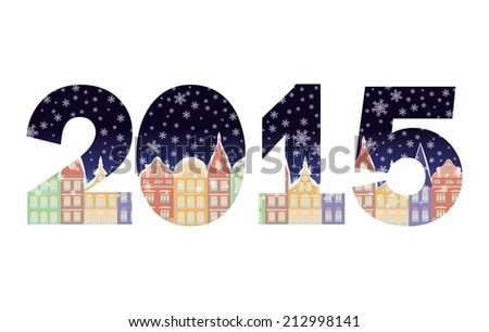 2015 Happy New Year banner, vector illustration - stock vector