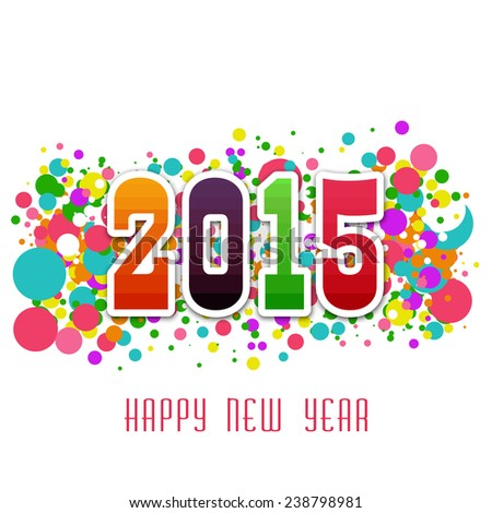 2015 Happy New Year colorful abstract background