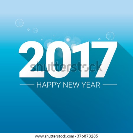 2017 Happy new year creative design background