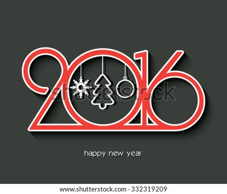 2016 Happy new year creative design for your greetings card, flyers, invitation, posters, brochure, banners, calendar - stock vector