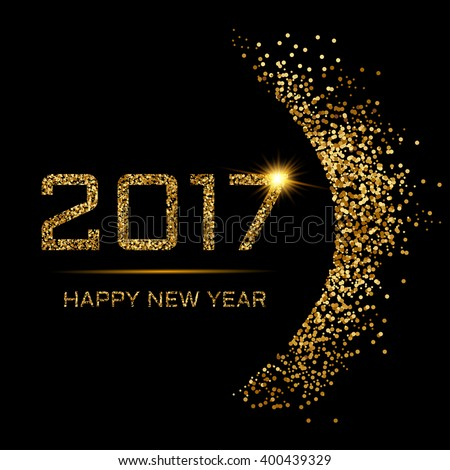 Happy New Year gold - stock vector