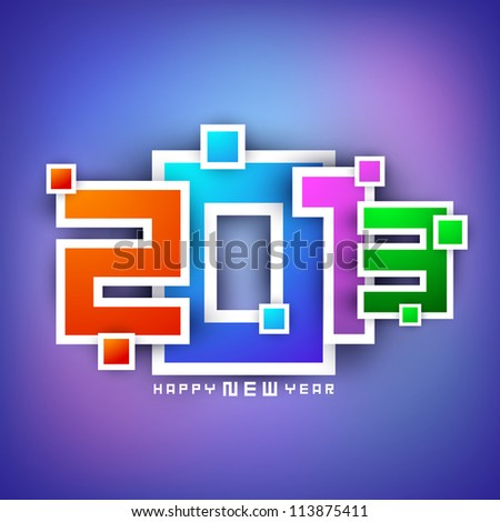 2013 Happy New Year greeting card. EPS 10 - stock vector