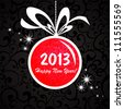 2013 Happy New Year greeting card or background. Vector illustration - stock photo