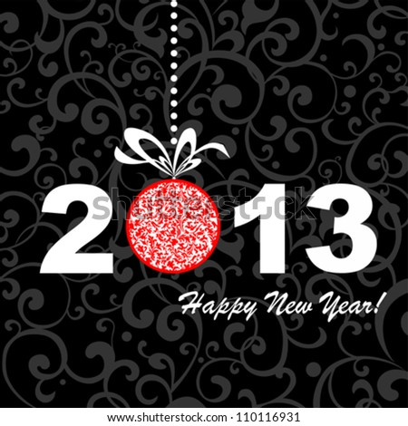 2013 Happy New Year greeting card or background. Vector illustration - stock vector