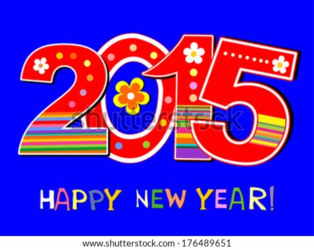 2015 happy new year greeting card stock vector 176489651 shutterstock 2015 happy new year greeting card or background vector illustration m4hsunfo