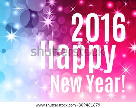 2016 Happy New Year! Holiday background.  Vector EPS10.