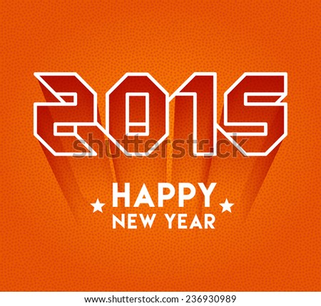 2015 happy new year lettering - stock vector