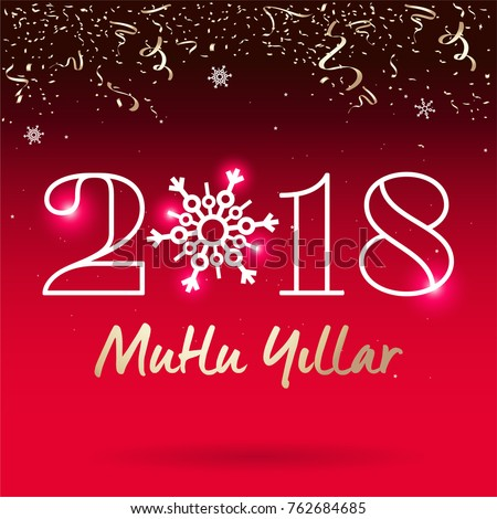 2018 happy new year typography card stock vector 771928981 2018 happy new year typography card turkish mutlu yillar m4hsunfo