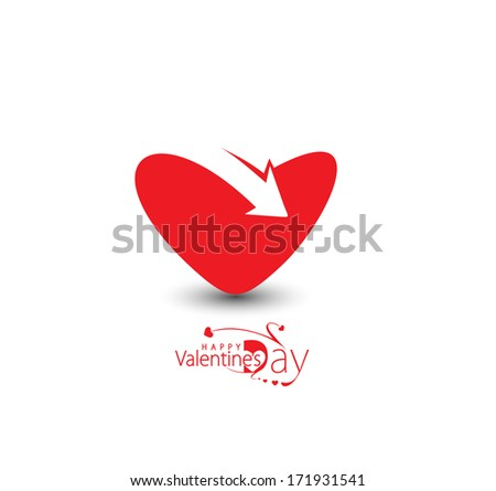 Happy Valentine's Day, Vector Illustration.  - stock vector