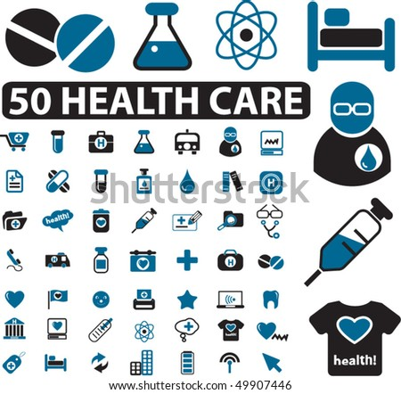 50 health care & medical signs. vector - stock vector