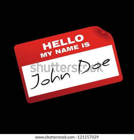 """hello my name is"" card/sticker"