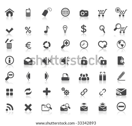 49 High quality web icons - stock vector