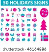 50 holidays signs. vector - stock