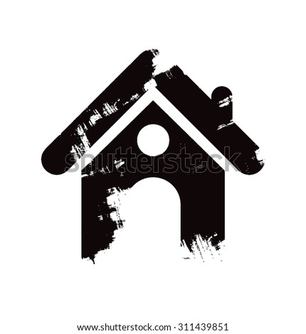 home icon design element - stock vector