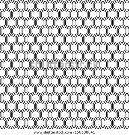 honeycomb pattern outline vector - stock vector