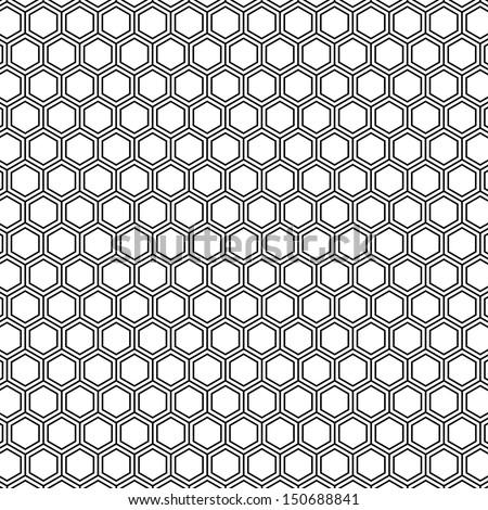 honeycomb pattern outline vector - stock vector