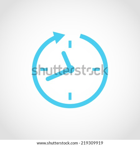 24 hour assistance , clock Icon Isolated on White Background