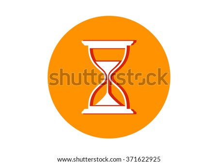 Hourglass icon on white background   - stock vector
