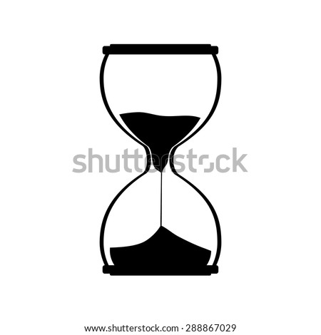 Hourglass silhouette vector icon. Sand watch. Sand glass. Sand clock - stock vector