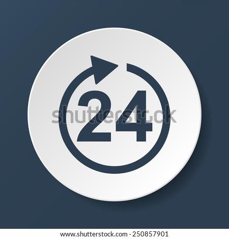 24 hours icon. Flat vector illustrator  EPS - stock vector
