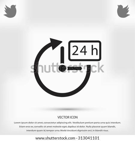 24 hours icon vector - stock vector