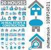50 houses & real estate icons set, vector - stock vector
