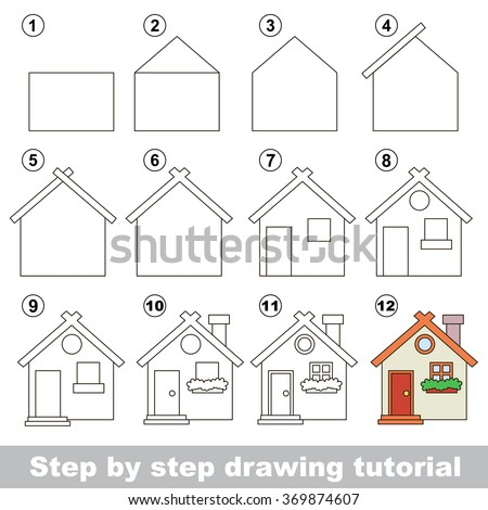 How to draw a toy house