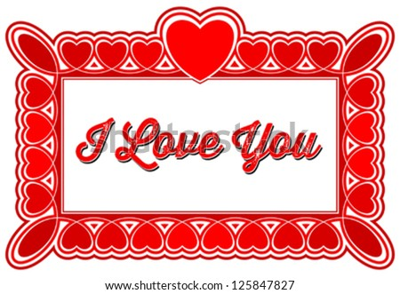 I Love You Greeting Card Frames Stock Vector (Royalty Free ...