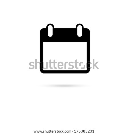 icon of calendar  - stock vector