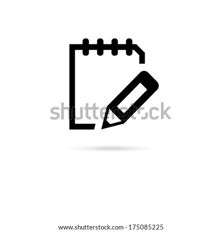 icon of notes  - stock vector