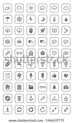 Icons and pictograms set. EPS10 vector illustration.  - stock vector