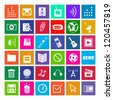 36 Icons, Metro Style, Modern, Vector EPS10 - stock vector