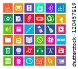 36 Icons, Metro Style, Modern, Vector EPS10 - stock vector