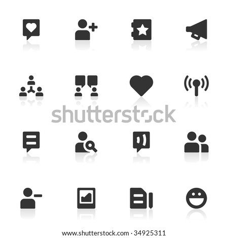 16 icons suitable for communities and social network sites. More sets in this series in my portfolio. - stock vector