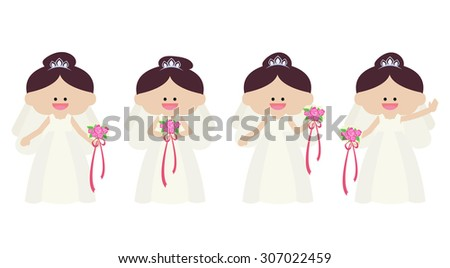 illustration of bride set - stock vector