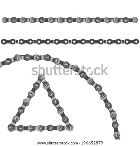 illustration with bicycle chain on a white background for your design - stock vector