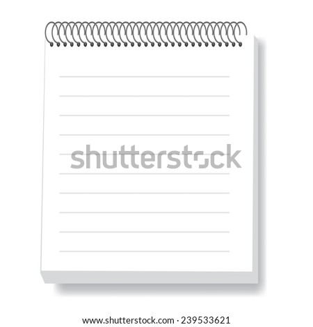 illustration  with notebook  on white background - stock vector