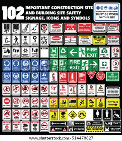 102 Important Construction Site Building Site Stock Vector