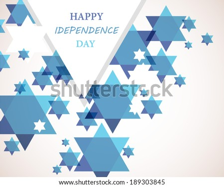 Independence day of Israel. David star background - stock vector