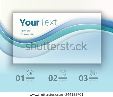 Infochart Background With Name Card Design Text Box  - stock vector