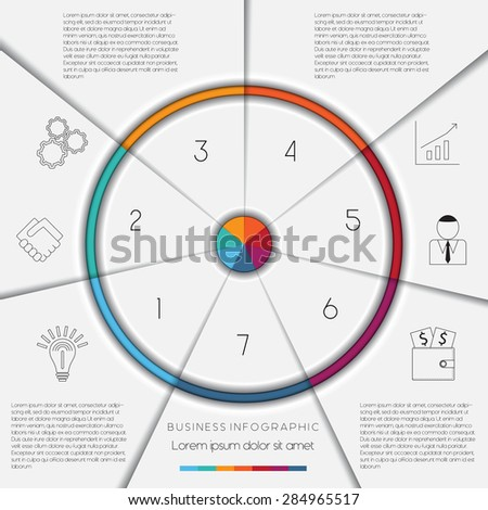 Infographic business process workflow template text stock vector infographic business process or workflow template with text areas on 7 positions flashek Gallery