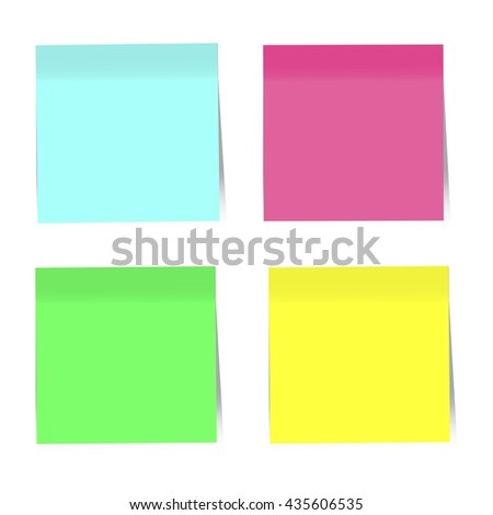 Infographics elements.Colorful Sticky Notes. Vector Illustration - stock vector