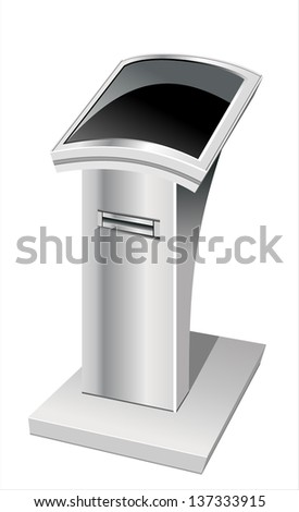 information terminal isolated on white background. - stock vector