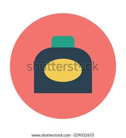 Inkpot Colored Vector Illustration  - stock vector