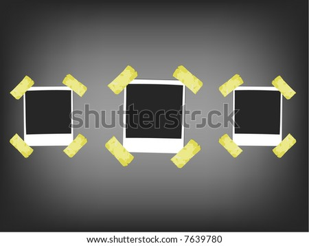 3 instant photo frames - stock vector