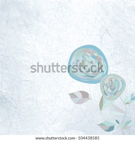 ?intage flower template, floral background. And also includes EPS 8 vector - stock vector