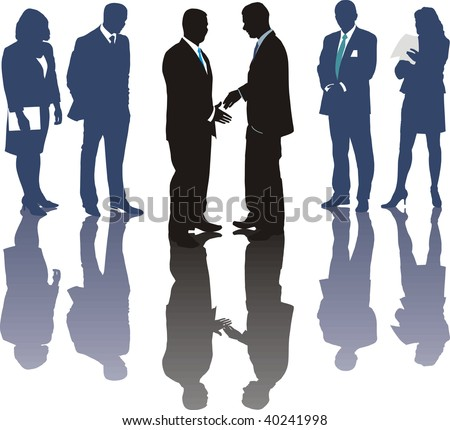 International business, Traders, vector illustration
